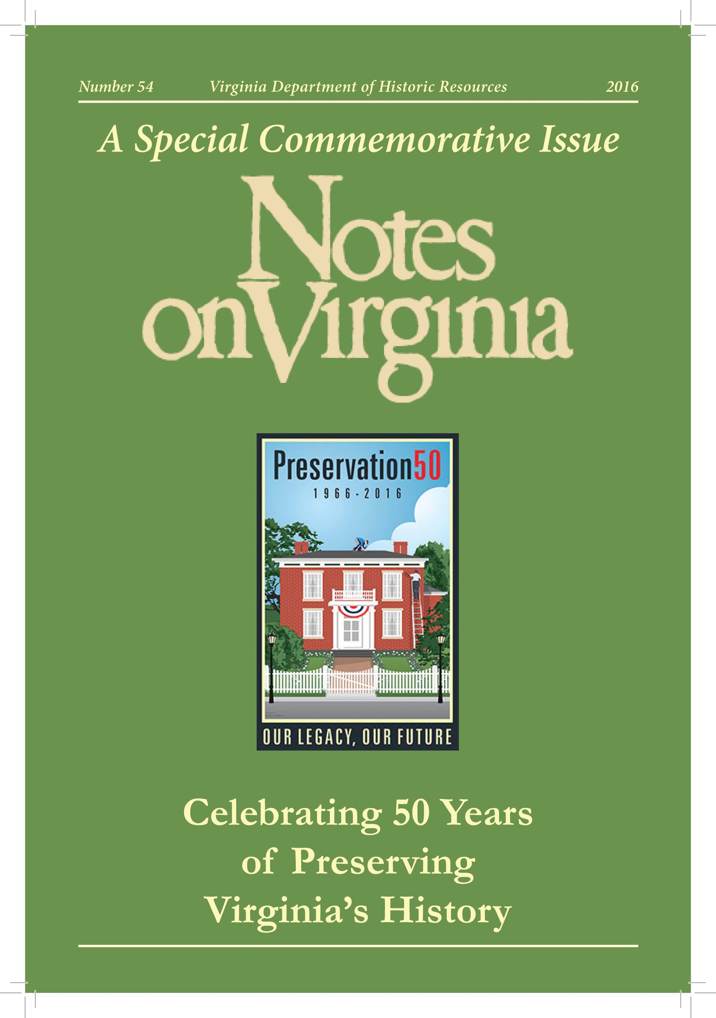 Cover of Notes on Virginia, No. 54